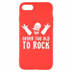 Чехол для iPhone 7 Never old to rock (Gomer) - FatLine