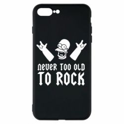 Чехол для iPhone 7 Plus Never old to rock (Gomer) - FatLine