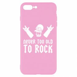 Чехол для iPhone 8 Plus Never old to rock (Gomer) - FatLine