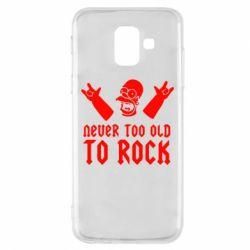 Чехол для Samsung A6 2018 Never old to rock (Gomer) - FatLine