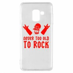 Чехол для Samsung A8 2018 Never old to rock (Gomer) - FatLine