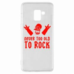 Чехол для Samsung A8+ 2018 Never old to rock (Gomer) - FatLine