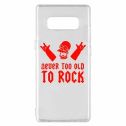 Чехол для Samsung Note 8 Never old to rock (Gomer) - FatLine