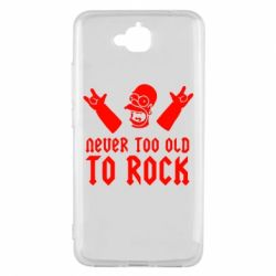 Чехол для Huawei Y6 Pro Never old to rock (Gomer) - FatLine