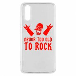 Чехол для Huawei P20 Never old to rock (Gomer) - FatLine