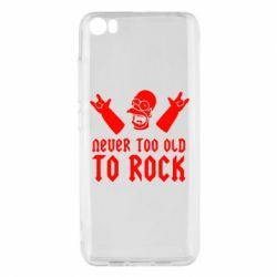 Чехол для Xiaomi Xiaomi Mi5/Mi5 Pro Never old to rock (Gomer) - FatLine