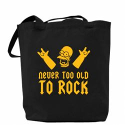 Сумка Never old to rock (Gomer)