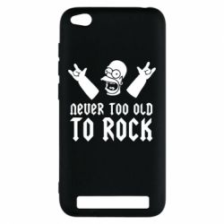 Чехол для Xiaomi Redmi 5a Never old to rock (Gomer) - FatLine