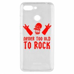 Чехол для Xiaomi Redmi 6 Never old to rock (Gomer) - FatLine