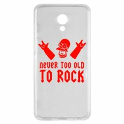 Чехол для Meizu M6s Never old to rock (Gomer) - FatLine