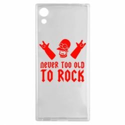 Чехол для Sony Xperia XA1 Never old to rock (Gomer) - FatLine