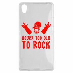 Чехол для Sony Xperia Z1 Never old to rock (Gomer) - FatLine