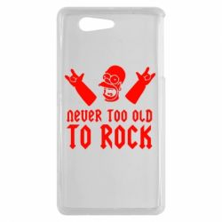 Чехол для Sony Xperia Z3 mini Never old to rock (Gomer) - FatLine