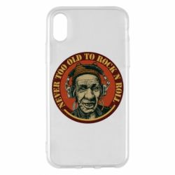 Чохол для iPhone X/Xs Never too old to Rock n roll