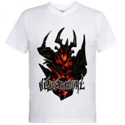 Мужская футболка  с V-образным вырезом Nevermore Art