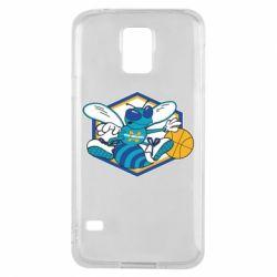 Чехол для Samsung S5 New Orleans Hornets Logo - FatLine