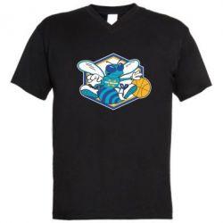 Мужская футболка  с V-образным вырезом New Orleans Hornets Logo - FatLine