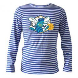 Тельняшка с длинным рукавом New Orleans Hornets Logo - FatLine