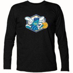 Футболка с длинным рукавом New Orleans Hornets Logo - FatLine