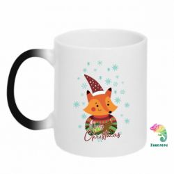 Кружка-хамелеон New Year fox