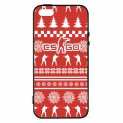 Купить Masha, Чехол для iPhone5/5S/SE New Year's CSGO, FatLine