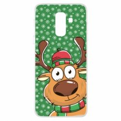 Купить Олень, Чехол для Samsung A6+ 2018 New Year's deer, FatLine