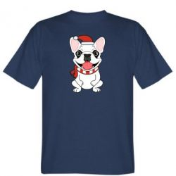 Мужская футболка New Year's French Bulldog