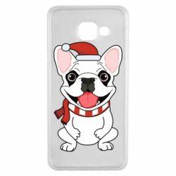 Чехол для Samsung A3 2016 New Year's French Bulldog
