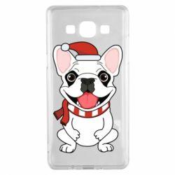 Чехол для Samsung A5 2015 New Year's French Bulldog