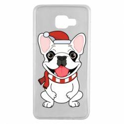 Чехол для Samsung A7 2016 New Year's French Bulldog