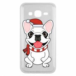 Чехол для Samsung J5 2015 New Year's French Bulldog