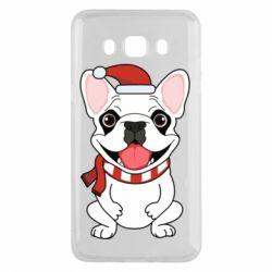 Чехол для Samsung J5 2016 New Year's French Bulldog