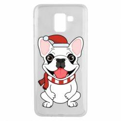 Чехол для Samsung J6 New Year's French Bulldog