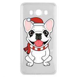 Чехол для Samsung J7 2016 New Year's French Bulldog