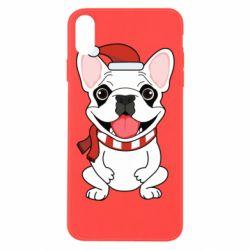 Чехол для iPhone Xs Max New Year's French Bulldog