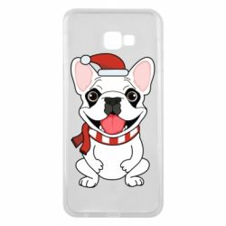 Чехол для Samsung J4 Plus 2018 New Year's French Bulldog