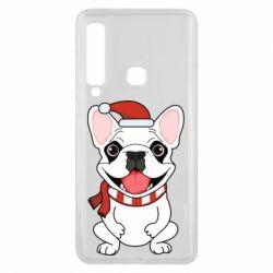 Чехол для Samsung A9 2018 New Year's French Bulldog