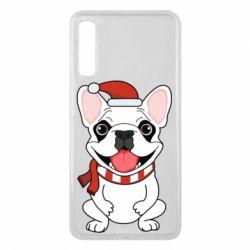 Чехол для Samsung A7 2018 New Year's French Bulldog