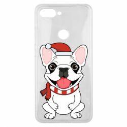 Чехол для Xiaomi Mi8 Lite New Year's French Bulldog