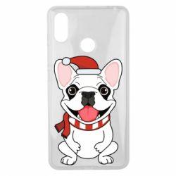 Чехол для Xiaomi Mi Max 3 New Year's French Bulldog