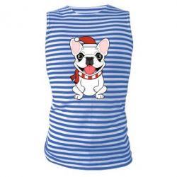 Майка-тельняшка New Year's French Bulldog