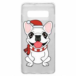 Чехол для Samsung S10+ New Year's French Bulldog