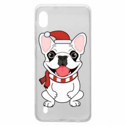 Чехол для Samsung A10 New Year's French Bulldog