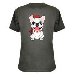 Камуфляжная футболка New Year's French Bulldog