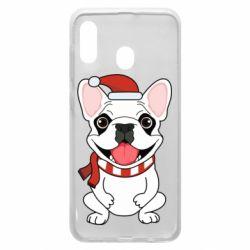 Чехол для Samsung A20 New Year's French Bulldog