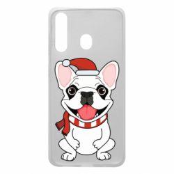 Чехол для Samsung A60 New Year's French Bulldog