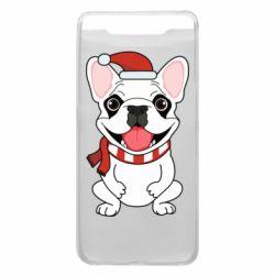 Чехол для Samsung A80 New Year's French Bulldog