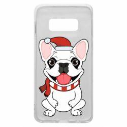 Чехол для Samsung S10e New Year's French Bulldog