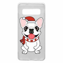 Чехол для Samsung S10 New Year's French Bulldog