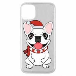 Чехол для iPhone 11 Pro New Year's French Bulldog